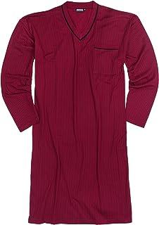 Adamo - Camicia da notte a maniche lunghe con strisce nere fino a 10XL