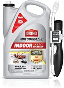 Ortho Home Defense Max Indoor Insect Barrier - with Comfort Wand, Starts Killing Ants, Roaches, Spiders, Fleas and Ticks Fast, Long-Lasting Indoor Pest Control, Fast-Drying, .5 gal.