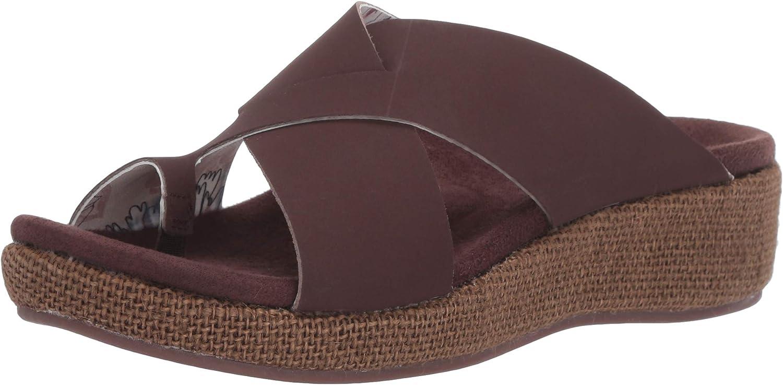 Spenco Women's Oasis Slide Sandal, Brown, 5 Medium US
