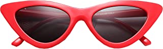 FOURCHEN Retro Vintage Narrow Cat Eye Sunglasses for kids...