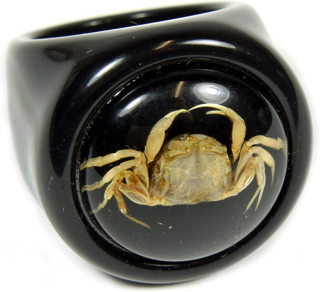 REALBUG Crab Black Ring Size 8