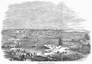 Maine Portland 1858 Nthe City And Harbor Of Portland Maine Wood Engraving From An English Newspaper Of 1859 Poster Print by (24 x 36)