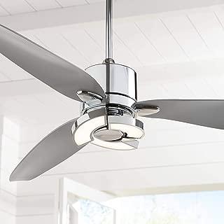 modern chrome ceiling fans