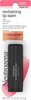 Neutrogena Revitalizing Lip Balm SPF 20, Healthy Blush [20], 0.15 oz