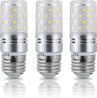 Huoqilin Bombilla LED E27 12W,100W Incandescente Equivalentes, Blanco Frío 6000K,1000lm,3 unidades