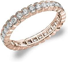 Eternity Wedding Bands 1.0 CTTW Diamond Eternity Ring, 1ct Wedding Anniversary Ring in 10K Gold