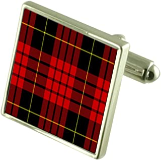Select Gifts Tartan Clan Macqueen Sterling Silver Cufflinks Engraved Box
