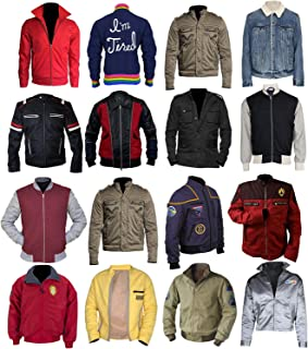 Mens Movies Cotton Lightweight Varsity Bomber Jacket Collection