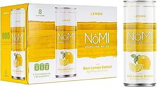 NoMI Lemon Sparkling Water, 12 fl. oz. Slim Cans (Pack of 24) | Flavored Sparkling Water Beverage Made with Real Lemon Ext...