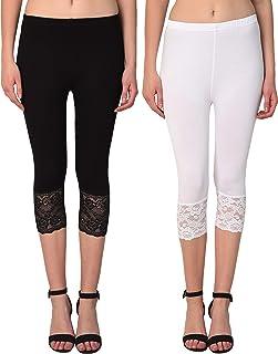Sangani Women's Slim Fit Capri (Pack of 2)