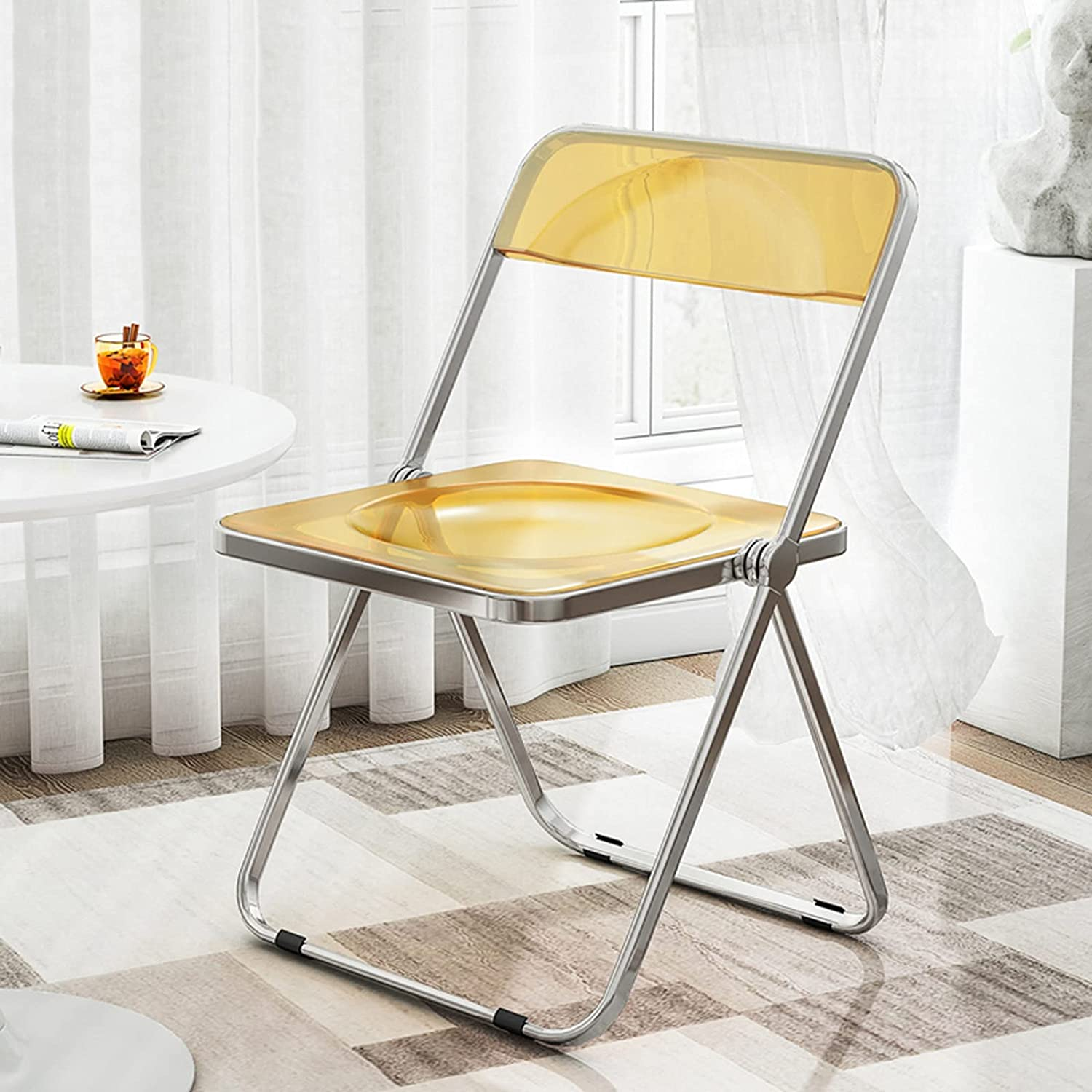 Folding Chairs Metal Transparent Mut Indianapolis Mall Chair Frame Dining OFFicial shop