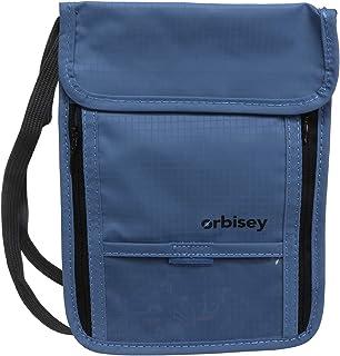 Orbisey Neck Wallet Travel Lightweight Pouch Stash for Passport Money Cards (Blue)