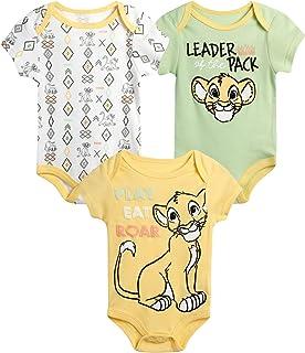 سالوبيت أطفال من Disney Baby Boys - عبوة من 3 قطع عليه ميكي ماوس، الأسد الملك، ويني ذا بوه (حديثي الولادة)