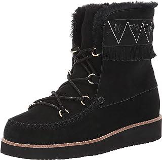 حذاء Jack Rogers Vera Suede برباط من الجلد المزغب، أسود، 6. 5