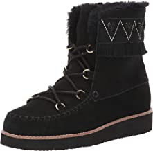 Jack Rogers Vera Suede Lace-Up Boot Black 9
