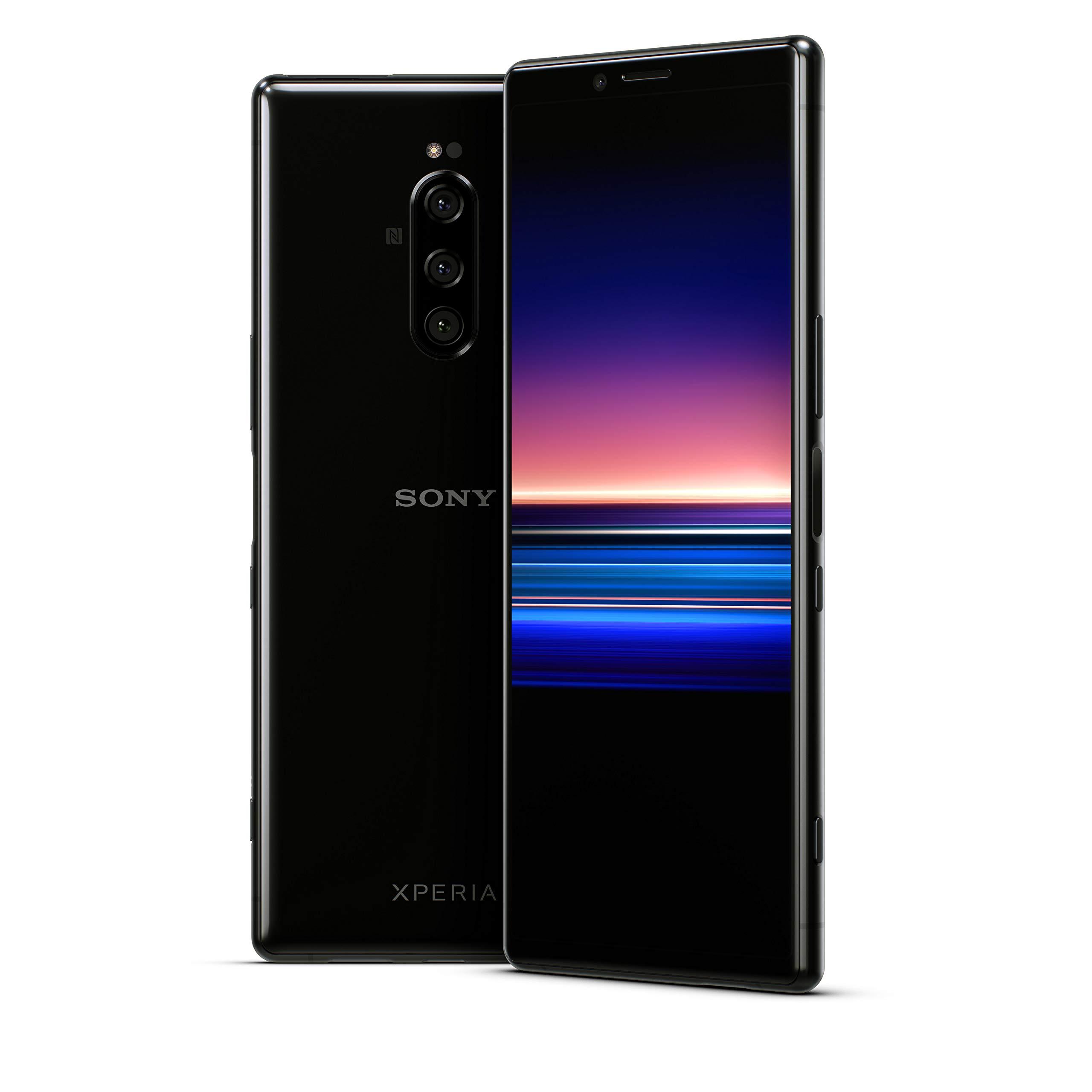 "Sony Xperia 1 Unlocked Smartphone 6.5"" 4K HDR OLED CinemaWide Display, 128GB - Black - (US Warranty)"