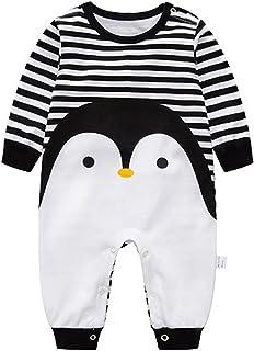 a85df50c07eb3 SiyaTom Baby Fille Garçon Combinaison Manche Longue Bébé Romper Bodysuit