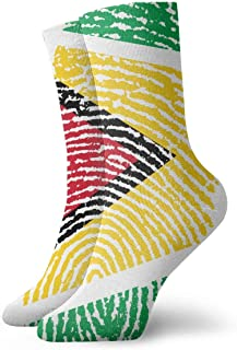 Luxury Calcetines de Deporte Guyana Unisex Funny Art 3D Print Casual Crew Socks Athletic Crew Socks