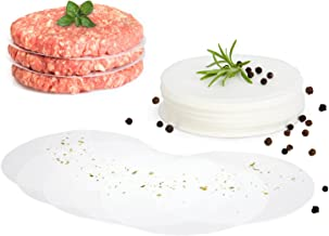 GOURMEO fogli di carta antiaderente 500 pezzi per pressa per hamburger, rotondi, diametro 11 cm   carta da forno, fogli separatori per hamburger polpette