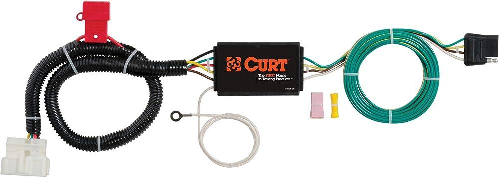amazon.com: curt 56291 vehicle-side custom 4-pin trailer wiring harness,  fits select honda pilot, passport , black : automotive  amazon
