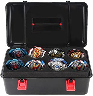 Gosear Box for Beyblade,Case for LOL Dolls,Lps Figures--Portable Durable Plastic Storage Carrying Case Box Organizer for Beyblade Burst Gyro Launcher Accessories with Carrying Handle (Black)