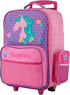GiftsForYouNow 2-Wheel Personalized Unicorn Rolling Luggage Bag, 14.5