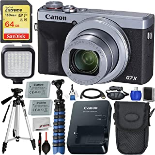 Canon PowerShot G7 X Mark III Digital Camera (Silver#3638C001) with Premium Accessory Bundle