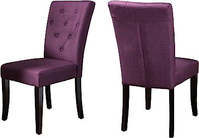 Christopher Knight Home Nyomi Fabric Dining Chair, Deep Purple