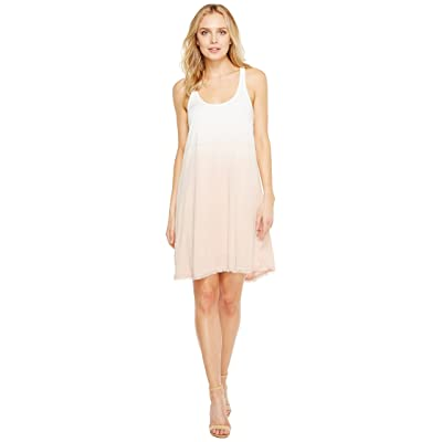 Splendid Twist Back Dress (White/Pink/Beige) Women