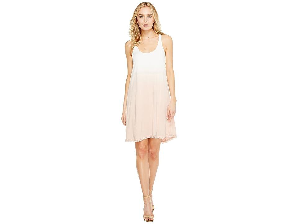 Splendid Twist Back Dress (White/Pink/Beige) Women