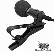 Lapel Microphone Lavalier Omnidirectional Vlog Clip on Collar Professional Condenser for Apple Android PC Mac Interview Studio Video Podcast Recording Noise Cancelling by Komodo Products