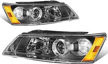 For Sonata NF Pair of Black Housing Amber Corner Projeactor Headlights Lamps