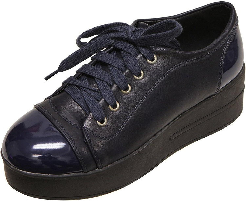 Bella Marie Women's Closed Round Toe Platform Oxford Creeper Sneaker