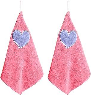 ounona 2pezzi Salviette di pulizia Panni di pulizia cucina Strofinaccio In Microfibra da appendere con cuore