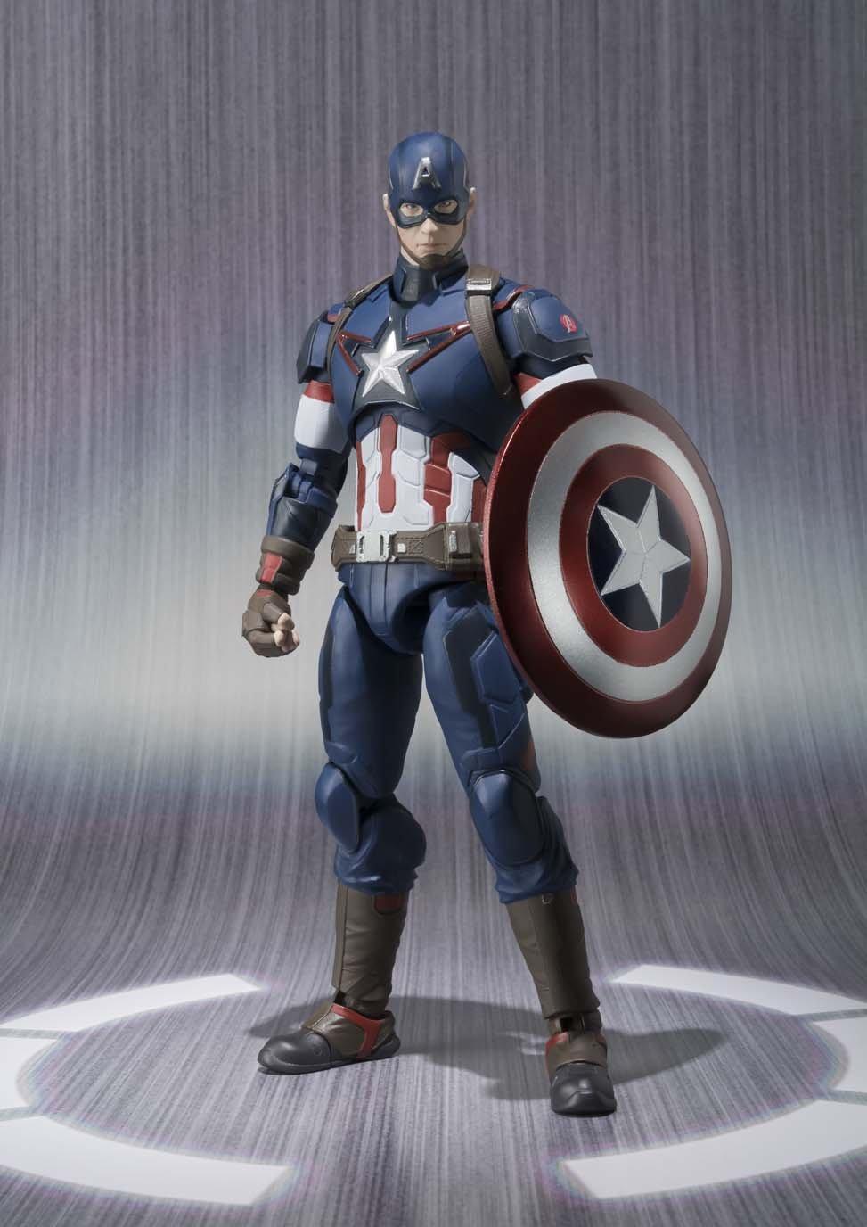 Bandaï SH Figuarts Avengers Captain America About 155mm ABS u0026 PVC Painted Action Figure