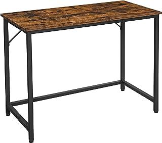VASAGLE Bureau, Table, Poste de Travail, Petite Taille, 100 x 50 x 75 cm, pour Bureau, Salon, Chambre, Assemblage Simple, ...