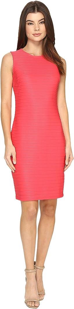 Sleeveless Sheer Stripe Dress