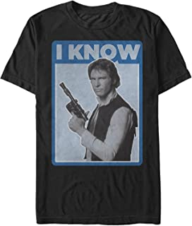 Star Wars Men's Han Solo Quote I Know T-Shirt