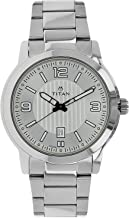 Titan Men's 'Neo' Fashion/Casual/Business/Luxury Mineral Quartz Dial -Leather/Brass and Silver Toned Strap