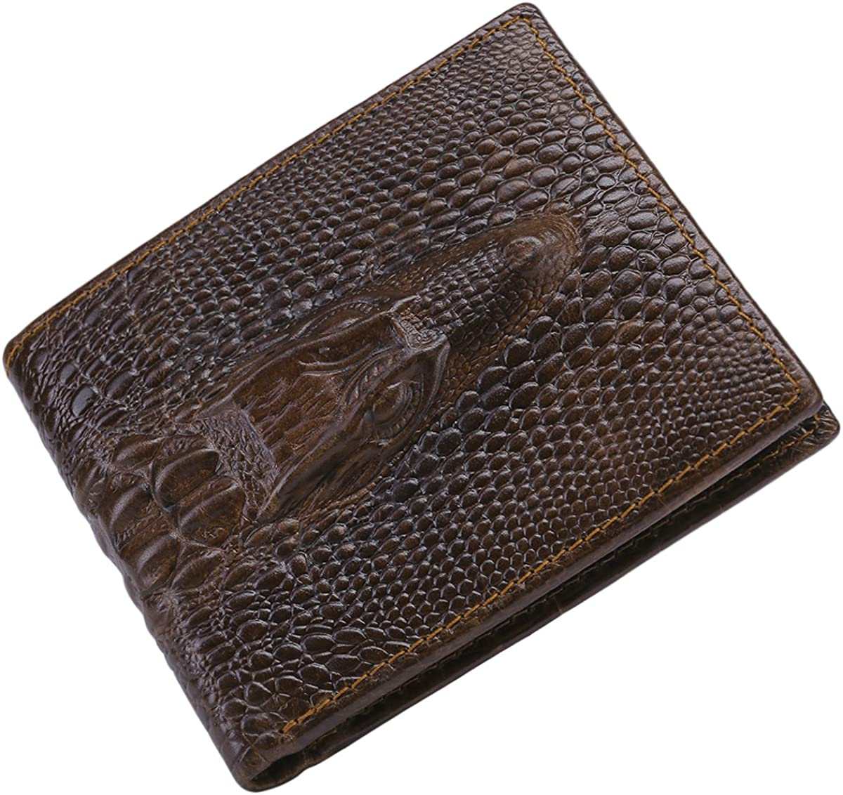 Itslife Leather Wallets for Men RFID Blocking, Mens Bifold Wallet with Removable Card Holder 2 ID Windows, Gift Wallet