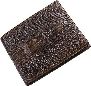 Men's Cowhide Leather Wallet Alligator/Tiger/Dragon Embossing