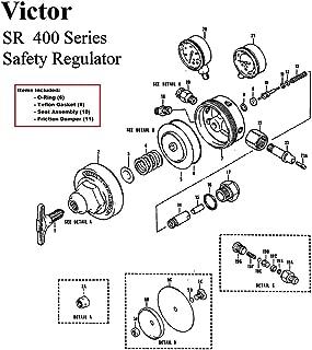 Victor SR400 Oxygen Regulator Rebuild/Repair Parts Kit