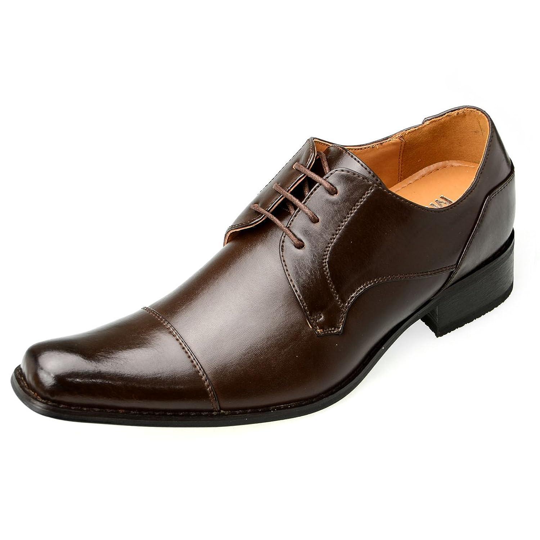 [エムエムワン] ビジネス シューズ メンズ シークレット シューズ インヒール 身長7.0cmUP 靴 背が高くなる ロングノーズ ストレートチップ 外羽根 【 H2701SZ 】