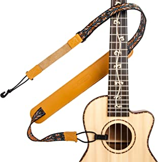 M33 Hawaiian Jacquard Woven Double Hooks Clip On Ukulele Strap Multicolor Belt Easy To Use Fits Any Uke Sizes