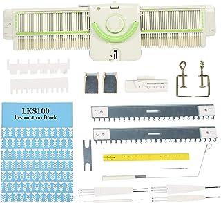 Machine à Tricoter, 3,9 Points Machine à Tricoter Haute efficacité Métal en Plastique Machine à Tricoter Outils Accessoire...