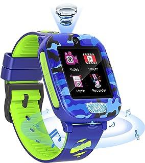 Reloj Inteligente para Niños de 2 Cámaras con Juegos de Música - 1.54 Pantalla Táctil Relojes Inteligentes Niños SOS Llama...
