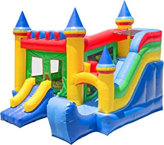 Inflatable HQ Commercial Grade Bouncing Castle Kingdom Bounce House 100% PVC with Blower and Slide