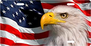 American Patriotic Eagle License Plate Novelty Tag from Redeye Laserworks