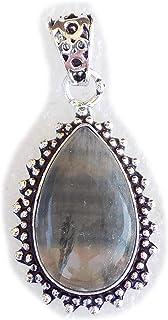 Fluorite Pendant, Silver Plated Brass Pendant, Handmade Pendant, Gift Jewelry, Women Jewellry, Fashion Jewellry, BRS-12361