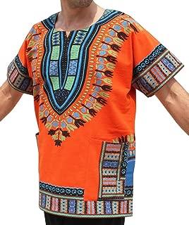 RaanPahMuang 品牌厚 Muang 棉质印花非洲长颈鹿衬衫非洲长袍